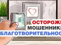 Осторожно: мошенники в благотворительности